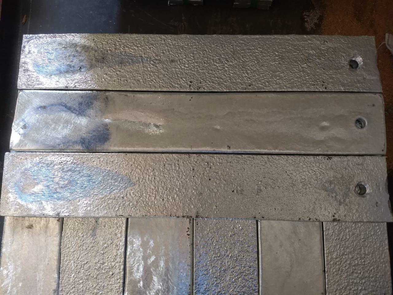 Zinco placas medida 10x 60